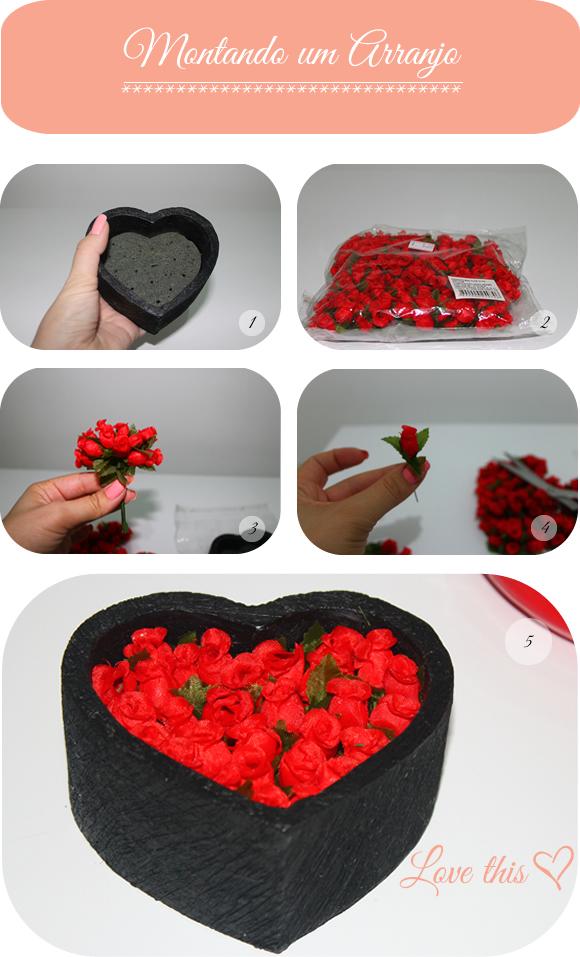 DIY Arranjo de Flores